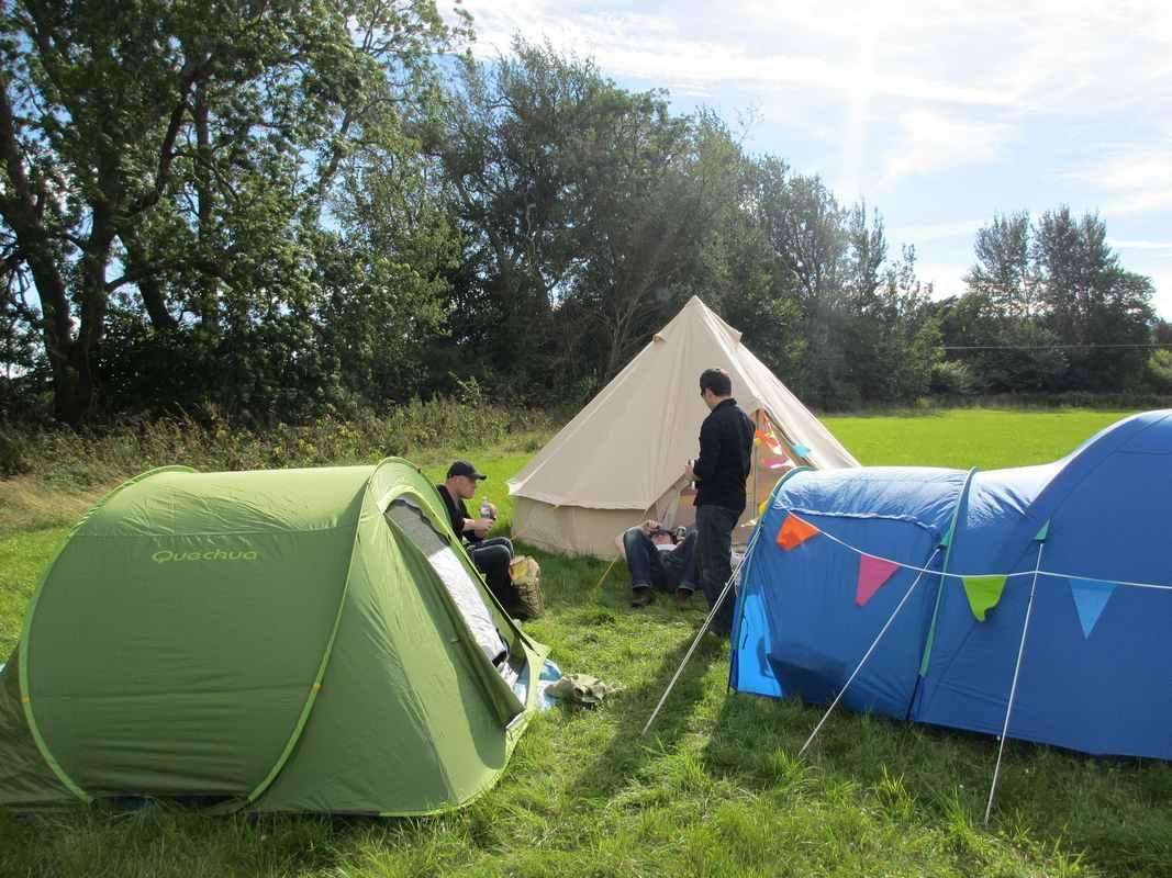 Camper durant l'été